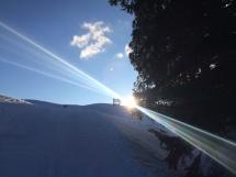 Die ersten Sonnenstrahlen erwischt