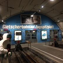 Gletscherbahnhof auf der Zugspitze