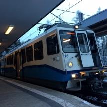 Die Zahnradbahn zur Zugspitze in Grainau