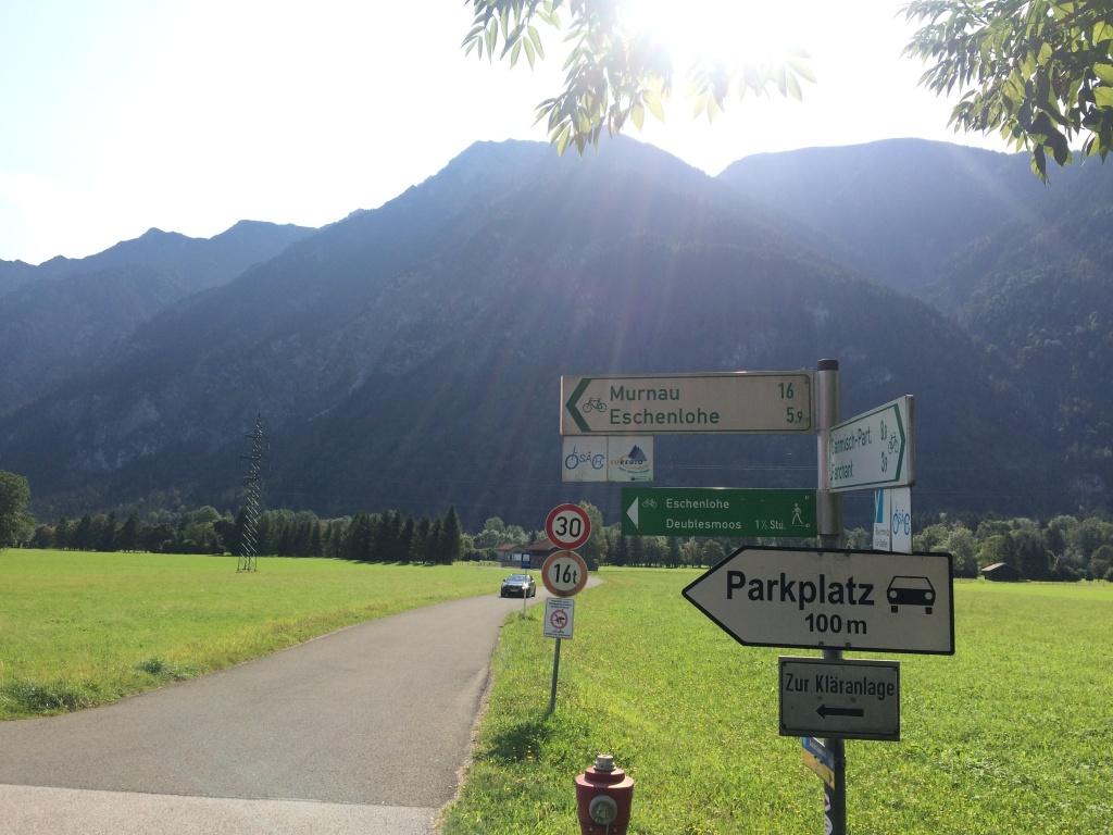 Plötzlich sind es nur noch 16 km bis Murnau. Es geht schnell voran.