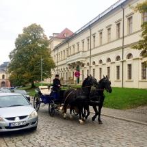 vor dem Schloss in Weimar