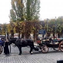 Kutschen vor dem Goethehaus auf dem Frauenplan