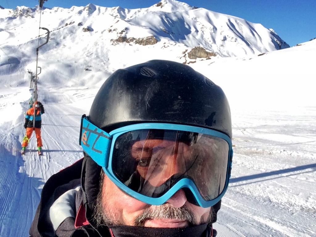 unterwegs im Skigebiet oberhalb von Champoussin in der Schweiz