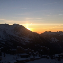 Sonnenuntergang in den französischen Alpen