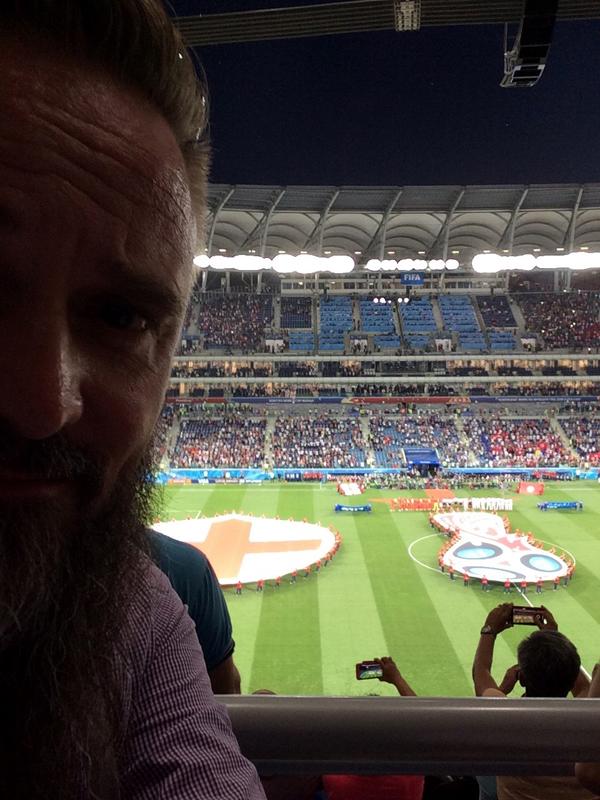 Im Stadion von Wolgograd - Fußball-WM 2018 - England vs. Tunesien