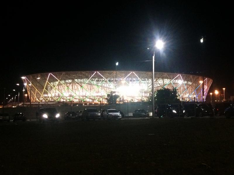 Das Stadion von Wolgograd nach dem Spiel
