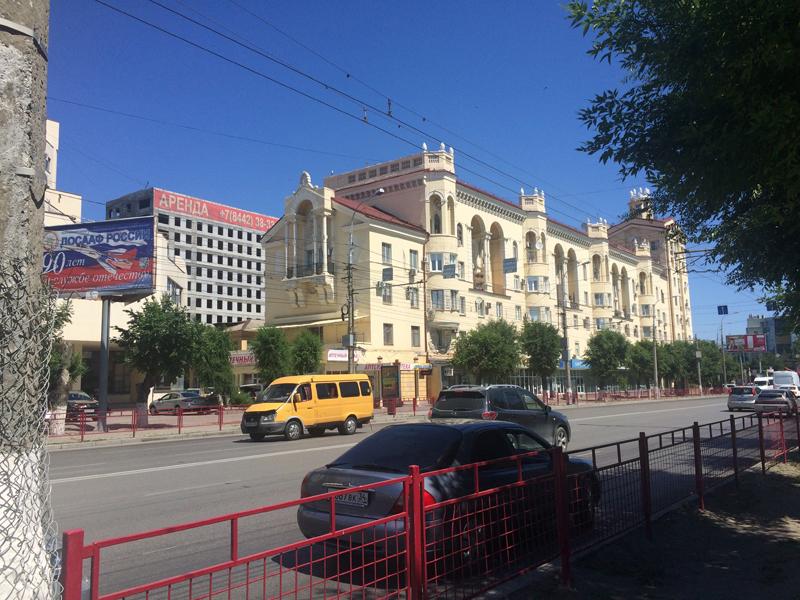 Hauptstraße im Zentrum von Wolgograd