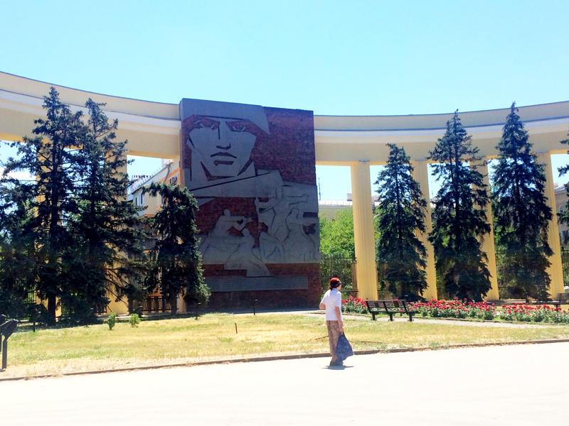 Im Zentrum von Wolgograd