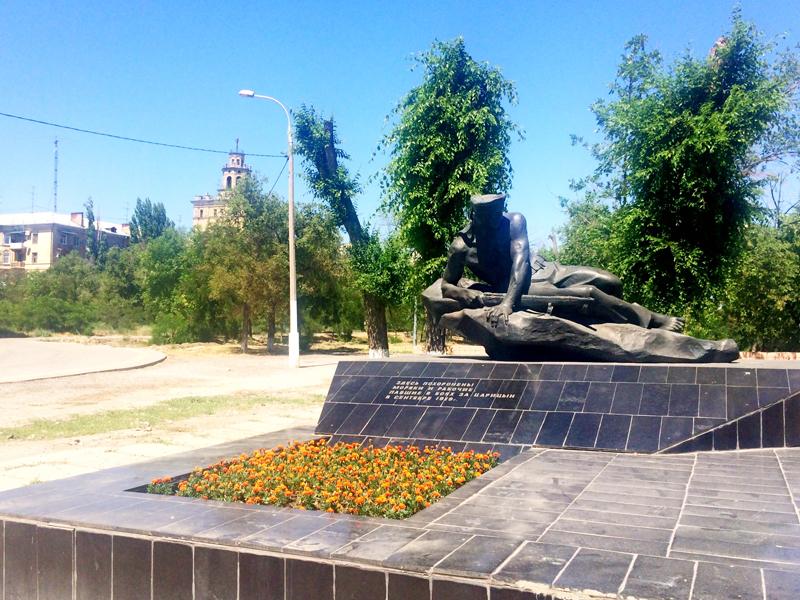 Eines der vielen Denkmäler an die Schlacht um Stalingrad in Wolgograd