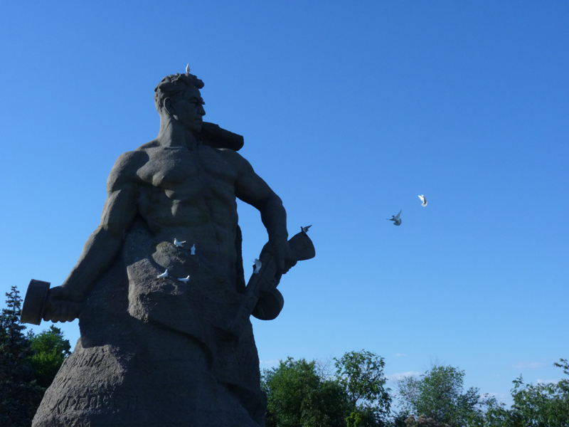 Denkmal auf dem Mamajew-Hügel