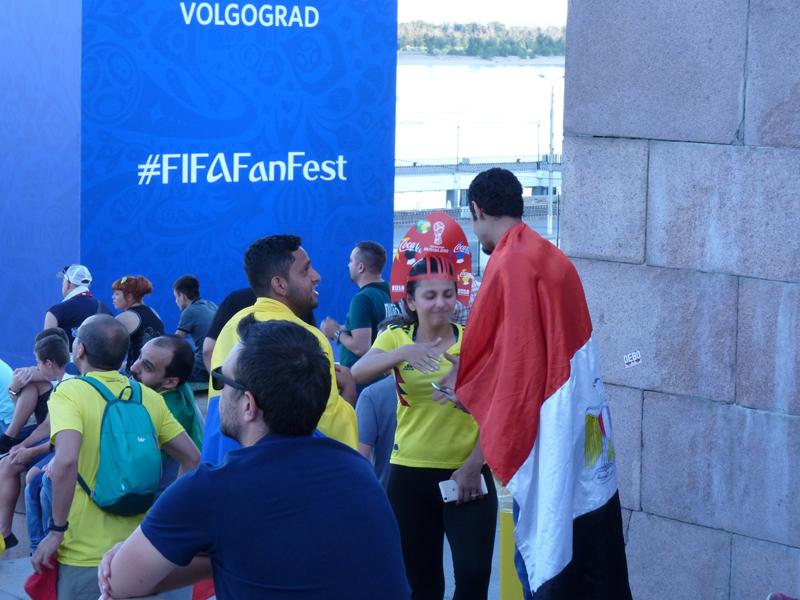 Fans auf dem FIFA-Fanfest in Wolgograd