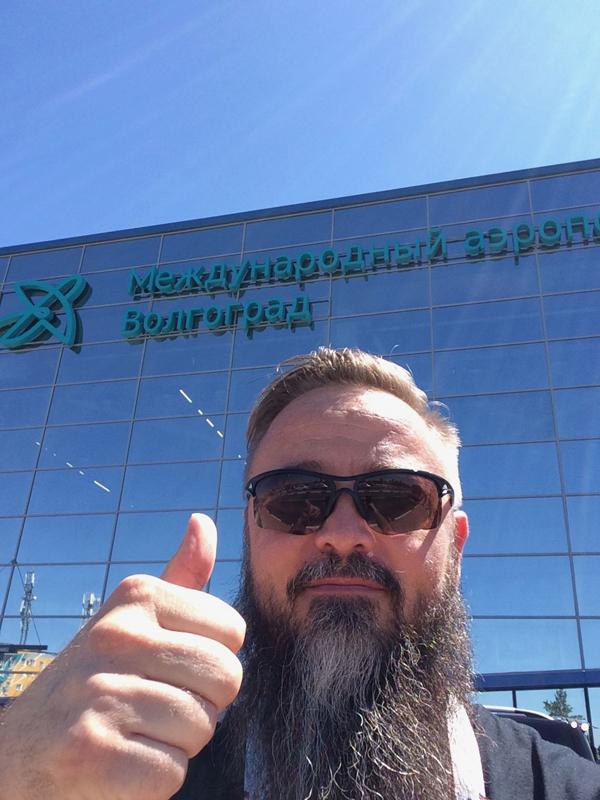 Am Flughafen - angekommen in Volgograd